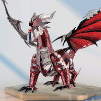 3D Laser Cut Model Kit, Dragon Assembly kit,Metal Puzzle Toy $58.00