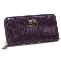 Coach Accordion Zip In Gathered Twist Large Purple Wallets coach-outletonline.name