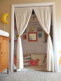 lwd reading nook for kids - would be cute in basement playroom!