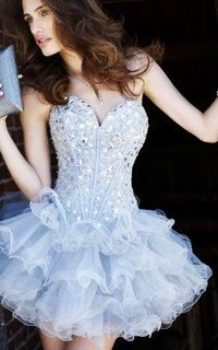 Short Sexy Prom Dress 2016 Sequin Strapless Sweetheart Neck