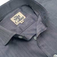 Grey Herringbone 2 Ply Premium Giza Cotton Regular Fit Shirt �'�1999.00