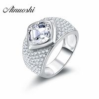 AINOUSHI 5 ct Gorgeous Brilliant Cushion Cut Sona Wedding Band Genuine $88.50