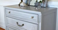 This Chalk Paint Dresser Makeover demonstrates how easy it is to refinish furniture using Annie Sloan's Chalk paint and the clear wax.