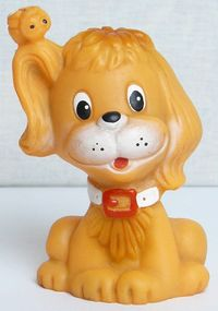 Vintage Original Soviet Russian Rubber Puppy Toy Doll USSR $3.00