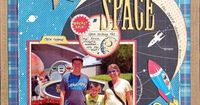 Disney Scrapbook Layout - Mission space