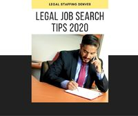 Legal Job Search Tips 2020