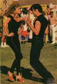 grease :) always a favorite....and skin tight leotards?....always an inspiration! Who else looks that good in those outfits?
