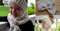 Crochet PATTERN Scarf & Headband Set by SweetPotato3Patterns