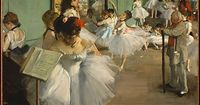 """Edgar Degas (French, 1834�€""""1917). The Dance Class, 1874. The Metropolitan Museum of Art, New York. Bequest of Mrs. Harry Payne Bingham, 1986 (1987.47.1) #dance #Degas 