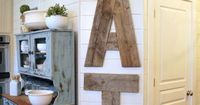 DIY wood sign for the house - 25 DIYs for Your Rustic Home