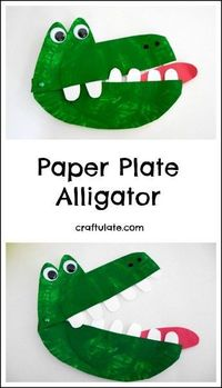 This paper plate alligator is a snappy fun craft project for kids to make!