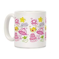 Peach Inventory Items Pattern Ceramic Coffee Mug $14.99 �œ� Handcrafted in USA! �œ� Support American Artisans