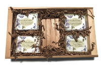 4 Bar Natural Soap Gift Set with Soap Saver Great Christmas, Housewarming, Thank you, Or Teacher's Gift $15.95