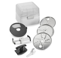 Take your Food Processor (model KSM1FPA) a step further with the Food Processor Accessory Kit.For further features and specifications about the products Visit Here. https://bit.ly/2RrUhDs