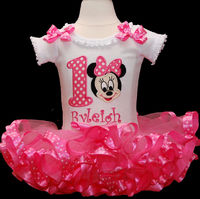baby girl 1st birthday outfit, Minnie Mouse 1st birthday outfit, smash cake outfit girl, Minnie Mouse first birthday outfit $69.95