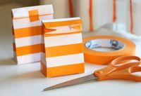 How to make gift bags from plain envelopes and tape
