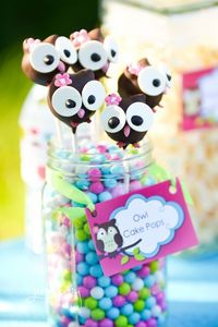 Owl Cake Pops Owl Birthday Party #owl #cakepops