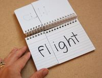 Phonics blends DIY flip chart, there is an easier 3 flip beginners phonics one too.