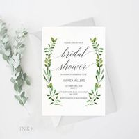This listing includes a high resolution wedding bridal shower invitation template PDF for you to edit and print at home or at your local print shop. Download the high resolution templates instantly after your payment is completed! You can edit and print a...