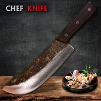 Kitchen Chef Knife Handmade Knives Carbon Steel Professional Tools $93.00