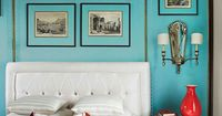 turquoise bedroom | Kelee Katillac Interior Design
