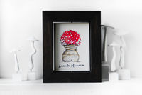 "5.5"" x 4.5"" Framed watercolor painting, Fungi study, Mushroom art, Home decor, Whimsical art $68.00"