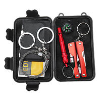 SOS Emergency Survival Equipment Kit EDC Sports Tactical Hiking Camping Tools