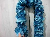 crochet patterns, ruffle scarf and scarves.