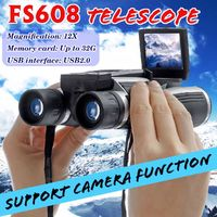 12x32 Binocular Digital Telescope 1080P Camera Video Recording Photo Shooting Outdoor Camping