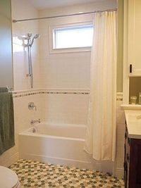 Lover the tile work, with the inset row. Cassia Wyner | CW Design | Specializing in Kitchens, Baths, and Home Offices