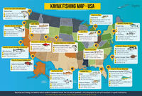 This is a map of the most delicious fish available in the USA. Presenting you the location and what bait to use so you can cacth it. You can do it while paddling in a kayak. Think about kayaking and fishing, two great hobbies combined in one. At the end a...