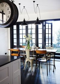 chair mix at kitchen dining table