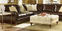 nice way to offset dark leather sectional, Thomasville Benjamin Brown Leather Sectional
