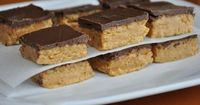 No bake chocolate peanut butter bars Tried these today. Can't wait to make them for the next potluck or play-date.