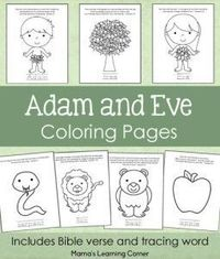 Top 25 FreePrintable Adam And Eve Coloring Pages Online | 235x200