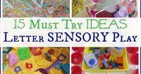 15 Must Try Letter Sensory Activities Hands-On Alphabet Learning Hands On Play is awesome and such a great tool for early learning. We like to dig in, get messy