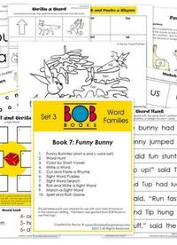FREE BOB Book Early Learning Printables