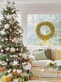 Christmas in Shades of Green and White