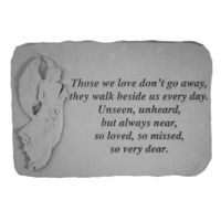 Kay Berry 'Those We Love' Garden Accent Stone (Those we love...), Grey, Outdoor Décor