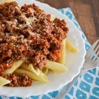 This flavorful, quick cooking penne bolognese is a classic recipe that's fast enough for a weeknight meal, but it's special enough for a Sunday dinner.