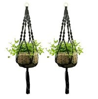 Macramé Plant Holder Black $17.95