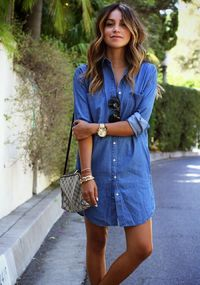 Denim dresses just shout spring and summer to me and if you're looking for a few that you can add to your closet for the coming season, look no further than thi