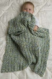Afghan using 3 strands of yarn.