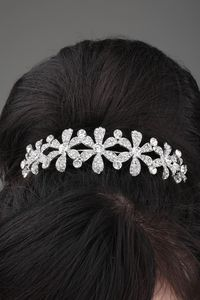 Attractive Flower Shaped Alloy and Rhinestone Tiara-HC