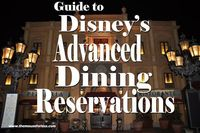 Disney's Advance Dining Reservations or ADR policy, getting started, making reservations online, last minute reservations, dietary restrictions and more.