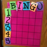 BINGO board. When a kid is doing what he/she is supposed to be doing and I catch him/her, that student then gets to sign his/her name in a box. At the end of the day, I roll a dice for the letter and the number. The student gets a simple reward. - Good Be...