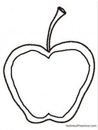 Stained Glass Apple Art Project Pattern