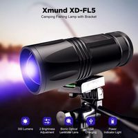 Xmund XD-FL5 300 Lumens Q5 LED High Brightness Fishing Lamp Waterproof Zoomable 2 Modes 4 Color Light USB Rechargeable Flashlight