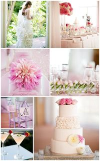 A pastel palette, delightful dahlias and a beach backdrop make for wedding magic at