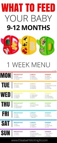 Boston mom blogger Elisabeth McKnight shares her awesome baby feeding schedule for babies aged 9-12 months, perfect for weaning. Click here!